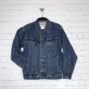 Wrangler Denim Jacket Button Up Pockets Unisex